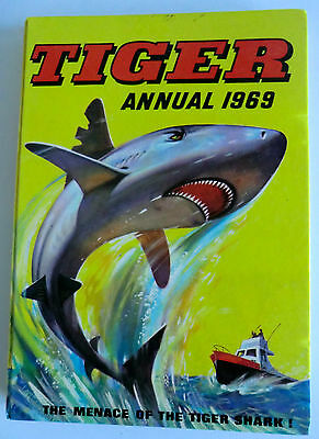 Rare Vintage Hb Book - Tiger Annual 1969 - Unclipped - Roy Of The Rovers Etc
