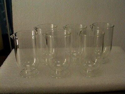 Set of Six, 250 ml Glass Flask for Z Series COULTER PARTICLE COUNTER Beckman
