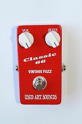 """UAS Art Face """"Vintage Fuzz Pedal."""" Silicon 2N2222 NPN. Hand wired In Australia"""