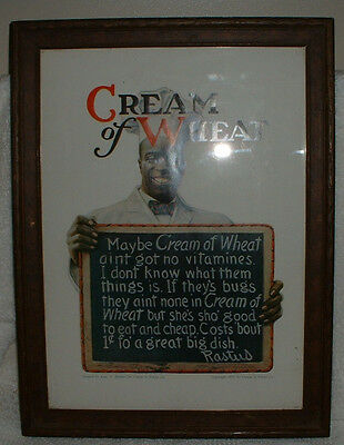 Framed Cream of Wheat reproduction advertising