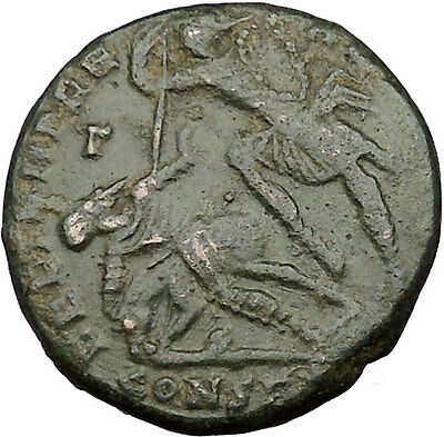 CONSTANTIUS II Constantine the Great son Big Roman Coin Battle Horse man i35768