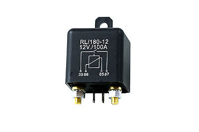 12V Heavy Duty Split Charge 100A ON/OFF Relay - Car Van Boat - 100 Amp - 4 Pin