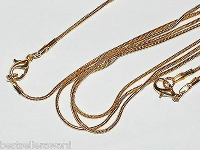 """1pc. Necklace Gold plated Necklaces w/clasp Findings 16"""" inch *NEW"""