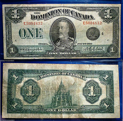1923 $1  Dominion of Canada  beautiful banknote  DC-25o