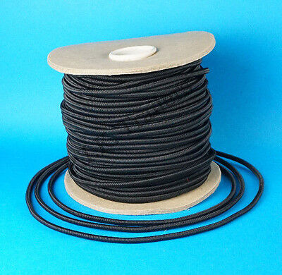8 Metres of 6mm BLACK Elastic Bungee Shock Cord for Trailer Cover Tie Down