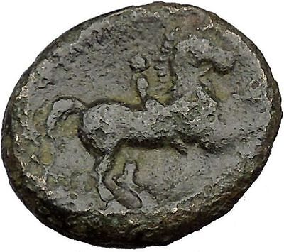 Philip II Alexander the Great Dad OLYMPIC GAMES Greek Coin APOLLO Horse  i35826