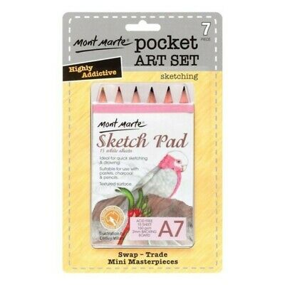 Mont Marte Pocket Art Sketching A7 7pce