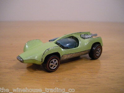 Vintage Hot Wheels Redline Double Vision 1969 - Rare metallic green