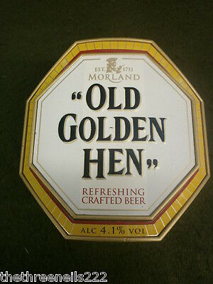 Beer Pump Clip - Old Golden Hen - With Clamp Fitting