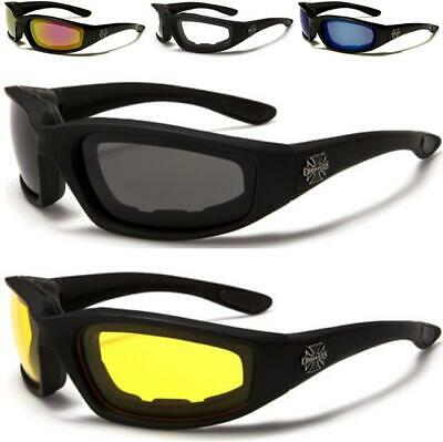 Motorcycle Goggles Sunglasses Choppers Motor Bike Bikers Sport Sports Padded