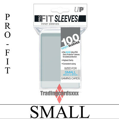 ♦Yu-Gi-Oh!♦ 100 Protèges Cartes/Sleeves Ultra PRO SMALL Transparent : Pro-fit