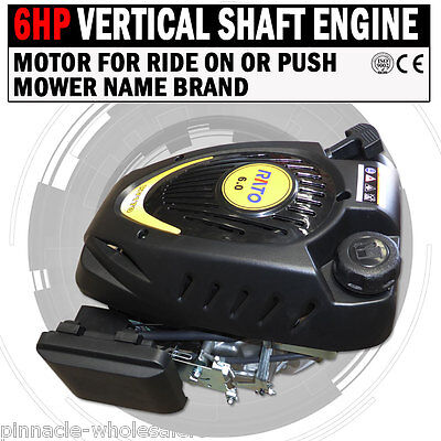 NEW 6HP Vertical Shaft Engine Motor For Ride On Or Push Mower Name Brand