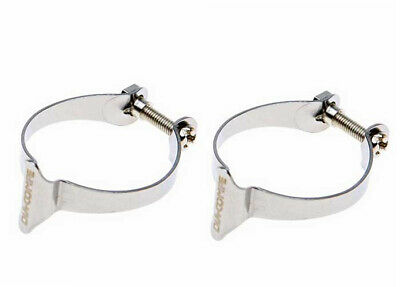 Genuine Dia-Compe Cable Clamps Chrome Pack of 2 x 25.4mm - Old School Retro BMX