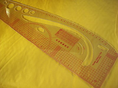 Versatile Cutting-Out Metric Ruler
