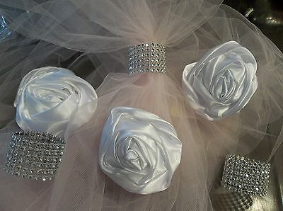 Napkin Rings 20 Silver Wedding Holder Decoration 7 Row