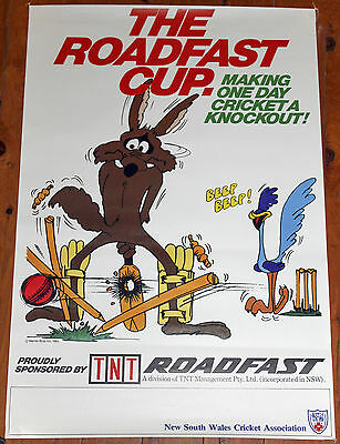 Vintage 1983 Roadfast Cup Nsw Cricket Poster