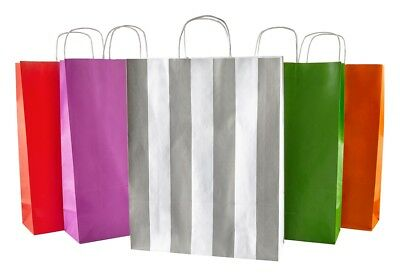 Coloured Kraft Twisted Handle Paper Carrier Bags