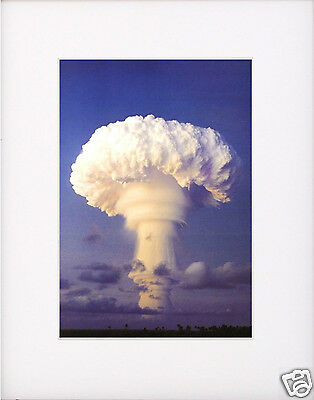 Atomic Bomb Nuclear Test WWII Matted Photo Picture # w1