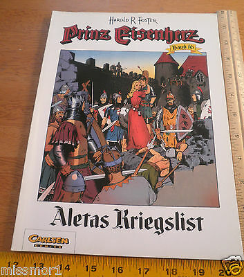 Carlsen Comics German Prince Valiant #16 Harold F Foster 1992 HTF COLOR book