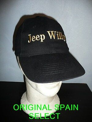 Casquette JEEP WILLYS noire ( MB MA GPA SAS 4X4 M201 WW2 OFF ROAD USA NORMANDIE