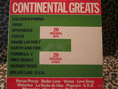 LP - CONTINENTAL GREATS - ( CUT OUT ) POLYDOR ( ABBA, SPOTNICKS, FOCUS ect. )