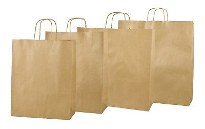 Brown Kraft Twisted Handle Paper Carrier Bags
