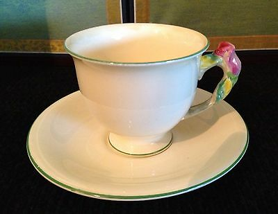 Royal Winton England Rosebud Pastelware for Chintz China Demitasse Cup & Saucer