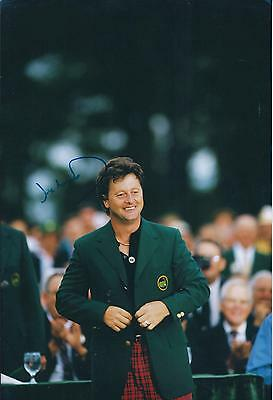 Ian WOOSNAM GENUINE SIGNED AUTOGRAPH Golf MASTERS 12x8 Photo AFTAL COA