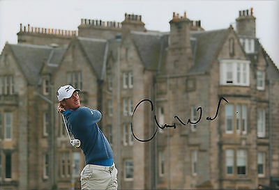Chris WOOD SIGNED AUTOGRAPH Golf 12x8 Photo AFTAL COA European Tour St Andrews