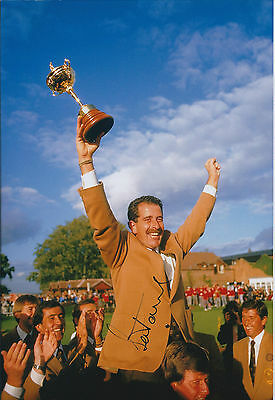 Sam TORRANCE SIGNED AUTOGRAPH 12x8 Photo AFTAL COA Ryder Cup Winning CAPTAIN
