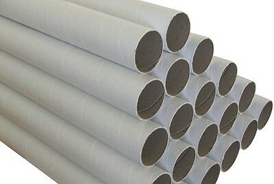 100 x Cardboard Mailing Tubes 60 x 1.5 x 420mm includes end caps BULK BUY Tube