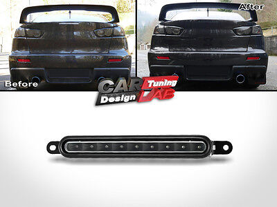 SMOKE REAR LED THIRD STOP BRAKE LIGHT LAMP For 2007 Up Mitsubishi Lancer EX Evo