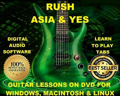 Rush 415 & Asia 24 Guitar Tabs Software Lesson CD & 98 Backing Tracks