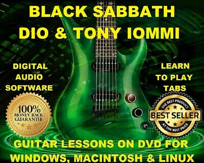 Black Sabbath 431 DIO 135 Tony Iommi 19 Guitar Tabs Software Lesson CD & 93 BTs