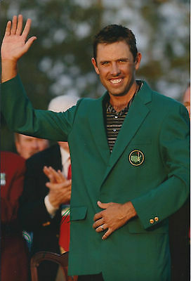 Charl Schwartzel SIGNED 12x8 Photo AFTAL Autograph COA Green Jacket WINNER RARE