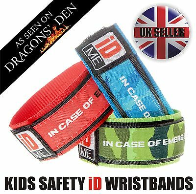Allergy ID Child Identity Safety band bracelet Medical alert Back to School ID