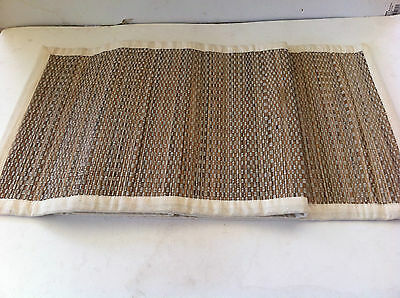 Rashida Cream Straw Table Runner - 35cm x 150cm