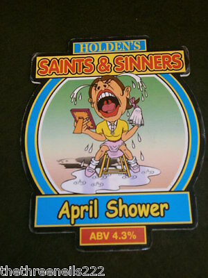 Beer Pump Clip - Holden's Saints & Sinners April Shower