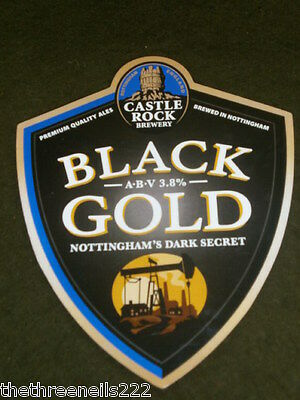 Beer Pump Clip - Castle Rock Black Gold