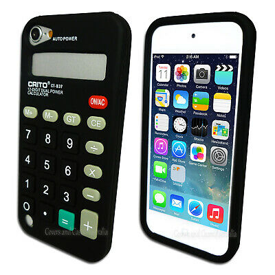 Black Calculator Soft Case for Apple iPod Touch 5 5th GEN 5G Silicone Cover