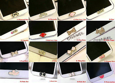 1 PC 3D Rhinestone Home Button Sticker for Samsung Galaxys3,s4,s5,s6,Note2,3,4