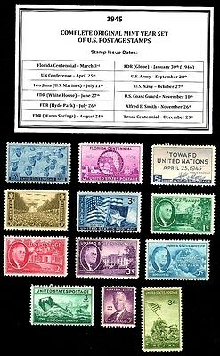 1945 Complete Year Set Of Mint -Mnh- Vintage U.s. Postage Stamps