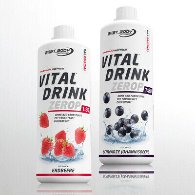 10,00€/Ltr. Best Body Nutrition 2 x 1 Ltr. Low Carb Vital Drink Mineraldrink