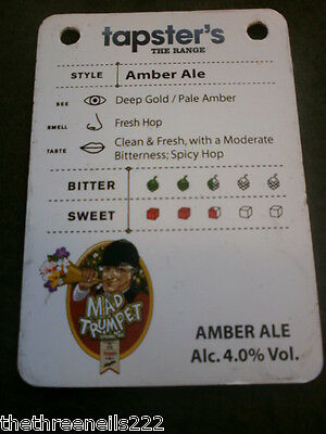 Beer Pump Clip Info Card - Amber Ale Mad Trumpet