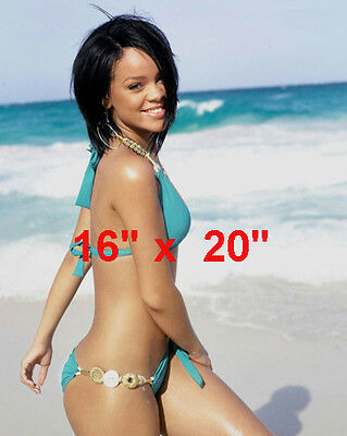 "Rihanna~Beach~Bathing Suit~Color Photo~Poster 16"" x  20"""