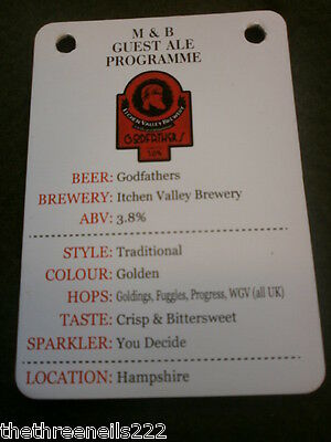 Beer Pump Clip Info Card - Itchen Valley Godfathers