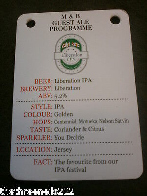 Beer Pump Clip Info Card - Liberation Ipa