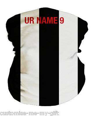Black and White  | Football Snood | Ltd Ed | Personalised | Neck Warmer | Mask