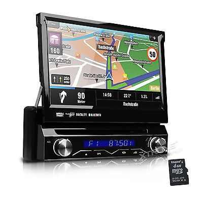 "Car Stereo DVD Player In-Dash GPS Radio RDS 1 Single DIN 7"" HD Screen Bluetooth"