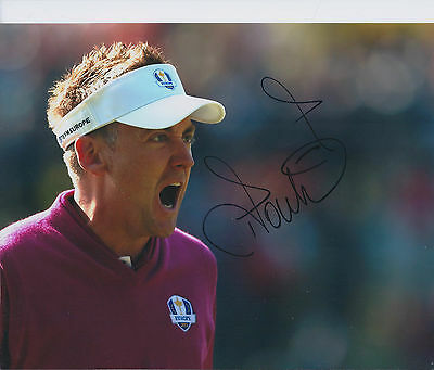 Ian POULTER SIGNED Autograph 10x8 Photo AFTAL COA RYDER Cup Team EUROPE